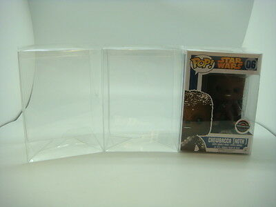 """6 Funko Pop! 4"""" Vinyl Box Protector Acid Free 0.37 mm Thickness with Film"""