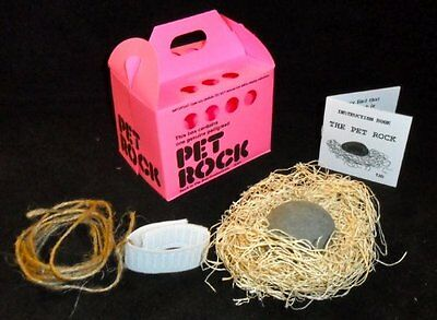 PET ROCK with walking leash PINK Silly Gag Gift