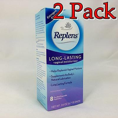 Replens Long Lasting Vaginal Moisturizer, 8ct, 2 Pack 366715830081T1015