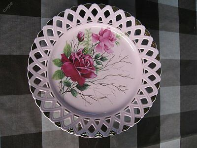 Antique  Pink Porcelain  Marked  Handpainted Plate - Czechoslovakia
