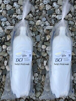 Dental Water Bottle x2, Heavy-Duty Plastic, 2 Liter W/ Cap & Tube #8164 by DCI