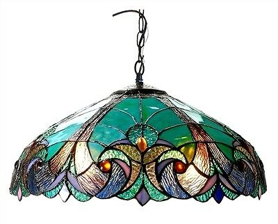 Chloe Lighting Tiffany Style Victorian 2 Light Ceiling Fixture CH18780VG18-DH2