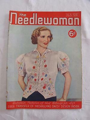 """VINTAGE 1930's """"THE NEEDLEWOMAN"""" SEWING FASHION MAGAZINE - MARCH 1938"""