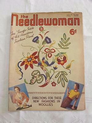 """VINTAGE 1930's """"THE NEEDLEWOMAN"""" SEWING FASHION MAGAZINE - MAY 1938"""