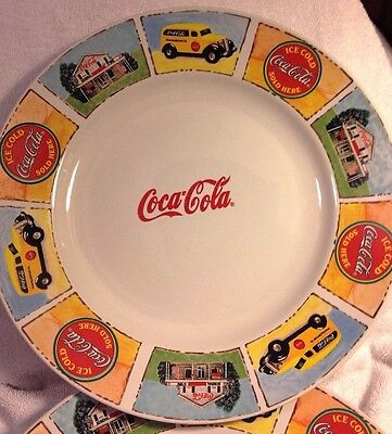 "Gibson Coca-Cola Plates Set of 4 Brand New ""Good 'ol Days"