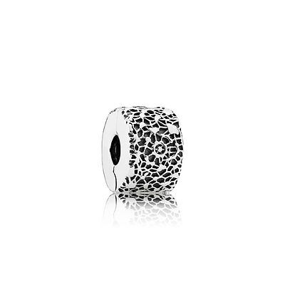 New Authentic Pandora 791758 LAYERS OF LACE Clip Sterling Silver