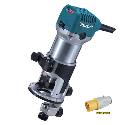 "Makita RT0700CX4 110v 710w 1/4"" router trimmer 3 year warranty option"