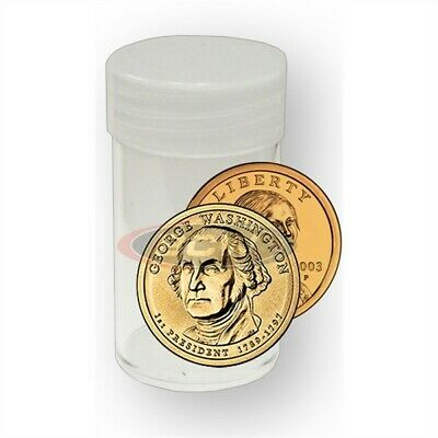 10 BCW Round Sacagawea / Presidential / Small US Dollar Clear Plastic Coin Tubes