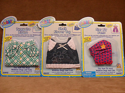Webkinz Clothing - Pants, Flower Top, and Blouse with Codes NEW