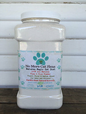 Natural Cat and Kitten Flea and Tick Control Treatment Powder