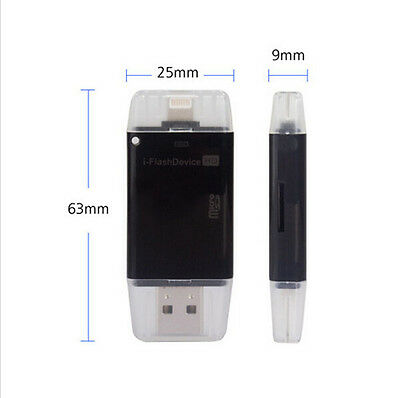 i-Flash Drive&Micro USB TF SD Card Reader External Storage For iPhone iPad iPod