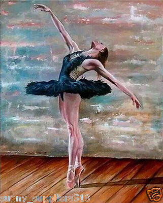 100% Hand-painted Art Oil Painting Wall Decor Canvas:Ballet Dancer (No Framed)