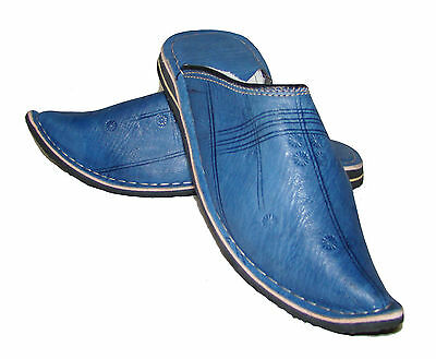 Babouche Marocaine cuir cousues or1 chaussure mule chausson sandale