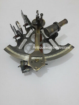 Vintage Marine Sextant~Nautical Maritime Navigation Working Brass Sextant Decor.