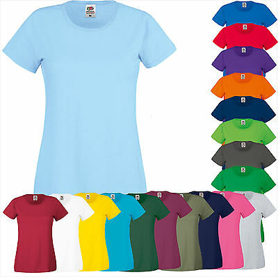 FRUIT OF THE LOOM Frauen SHIRT Lady-Fit Original Tee Gr. XS S M L XL XXL (A) FOL