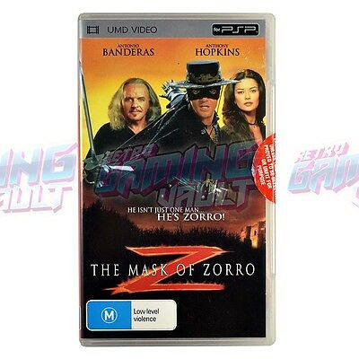 The Mask of Zorro (RARE UMD Video!) Sony PSP PlayStation Portable PAL (Complete)