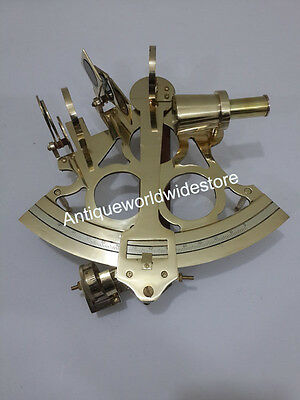 Solid Brass Sextant  Astrolabe Marine Nautical Maritime Gift Ships Instrument
