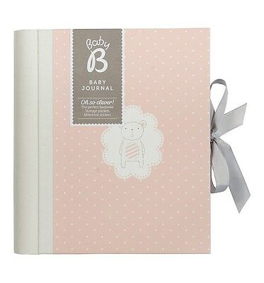 Busy B Baby Girl Journal FIRST YEARS Record Book with 140+ Stickers family tree
