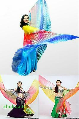 Colorful gradient Egyptian belly dance clothing Isis Wings 3 colors