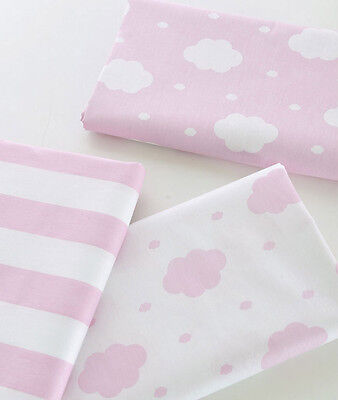 One PCS Cotton Fabric Pre-Cut Quilt cloth Fabric for Sewing Clouds And Stripes