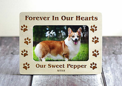 Pet Memorial Frame Forever In Our Hearts Picture Frame Cat Or Dog