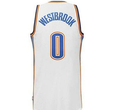 Canotta/jersey Collezione-Basket Nba-Oklahoma City Thunder-Westbrook-Bianca-S/m/