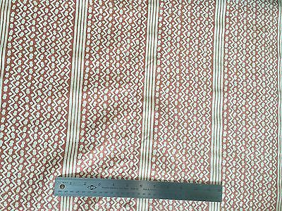 Authentic Fortuny Fabric - Tapa wtih Stripe - Bittersweet w/ Warm White