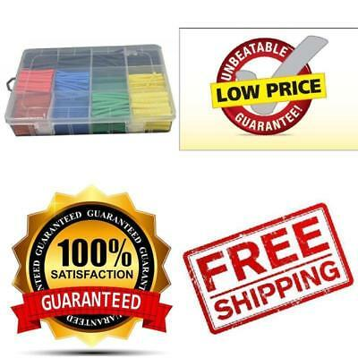 URBEST® 530 Pcs 2:1 Heat Shrink Tubing Tube Sleeving Wrap Cable Wire 5 Color 8