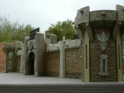 Mage Knight Castle D&D 3D Terrain LOT! Towers, Walls, Gatehouse Warhammer RPG