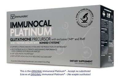 IMMUNOCAL PLATINUM 30 PK ,Natural source of Glutathione- Immunity $105.70/box