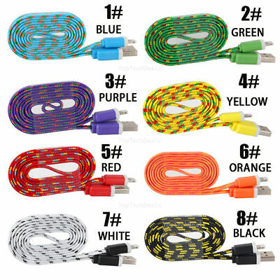 Braided USB Charger Cable Data Sync Cord For iPhone 6 iPhone 6s Plus iPhone 5 5c