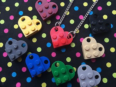 Love Heart Necklace...Handmade using LEGO® parts- Choose Colour