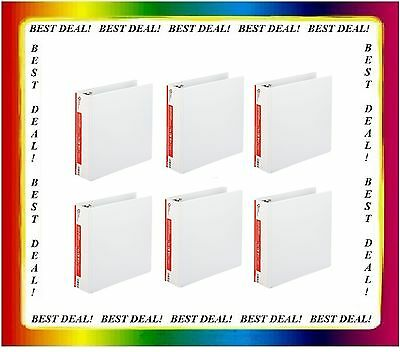 12 Office Impressions White 3 inch View Binders 3 Round Ring binder lot ct - NEW