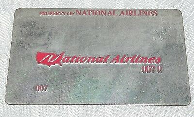 Rare Vintage National Airlines Metal Ticket Validation Plate Travel Agency