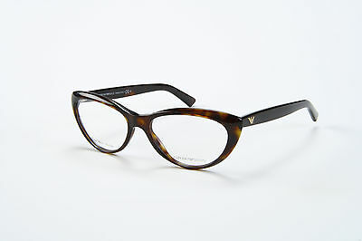 Brand New Emporio Armani Eyeglasses EA 9887 086 Rx Authentic Frame Brown & Case
