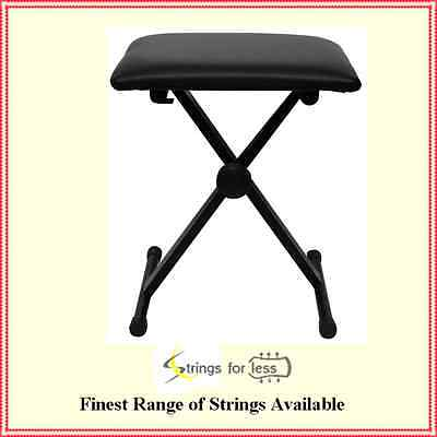 Heavy Duty Adjustable Height Padded Folding Keyboard Stool / Bench