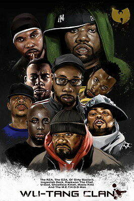 """MX02814 The Wu-Tang Clan - RZA Hip Hop Group Music 14""""x21"""" Poster"""