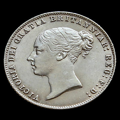 1859 Queen Victoria Young Head Silver Sixpence – Scarce