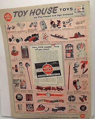 1950s vintage Ad Toy House Toys World St Paul Minnesota 1956 14""