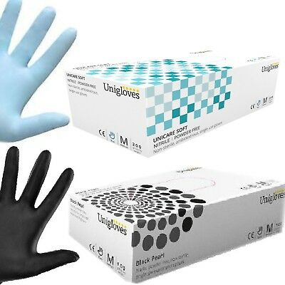 Black Nitrile Gloves Blue Nitrile Disposable Latex & Powder Free Gloves Uniglove