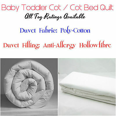 Anti Allergy Cot Bed Duvet Quilt Pillow Baby Toddler Nursery Junior Hollow Fiber
