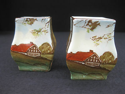 Pair of Royal Doulton 'Woodland' Series Ware Miniature Vases. D5815