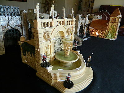 Town square Fountian. Real fountain RPG D&D terrain Mage Knight Warhammer castle