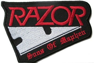 RAZOR Canadian thrash metal  Embroidered logo iron / Sew on patch
