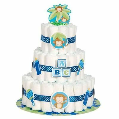 BOYS Nappy Cake Kit - Baby Shower Party Decoration Supplies