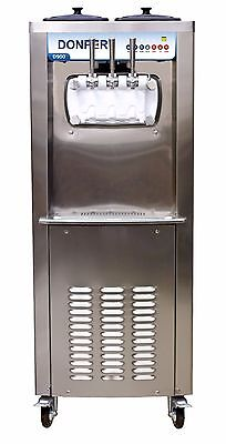 New Commercial Soft Serve Ice Cream Frozen Yogurt Machine w/ Hopper Mixing