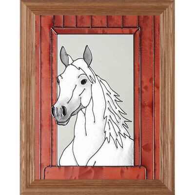 Arabian Horse Stained Glass Wall Art