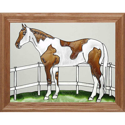 Paint/Pinto Horse Stained Glass Wall Art