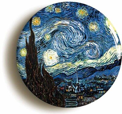 STARRY NIGHT BY VINCENT VAN GOGH BADGE BUTTON PIN (1inch/25mm diameter) ART