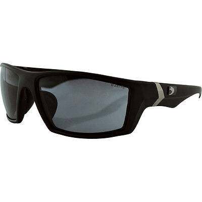 Bobster Matte Black/Smoke Whiskey Style Motorcycle Riding Sunglasses